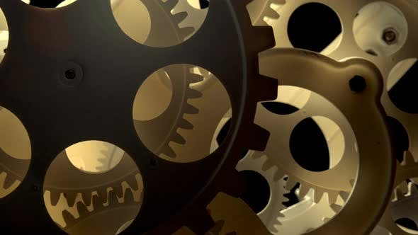 Thumbnail for Abstrat Industrial Clock Gears 13