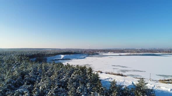 Thumbnail for Aerial Shot of Frozen Lake
