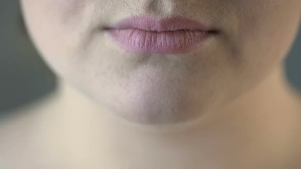 Thumbnail for Close Up of Overweight Female Smiling for Camera, Self-Confidence, Emotions