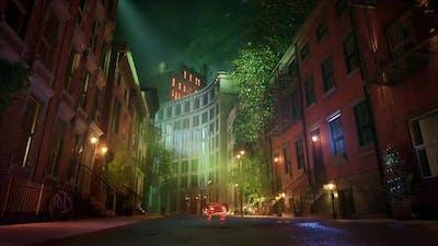 Winter Street Background Animation 1