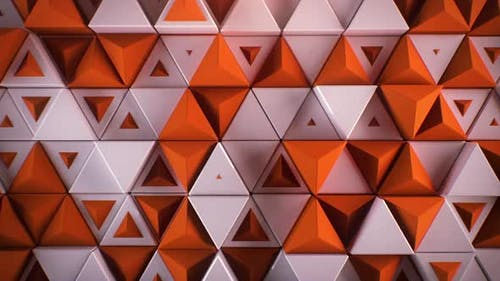 Импульсирующий треугольный настенный контур