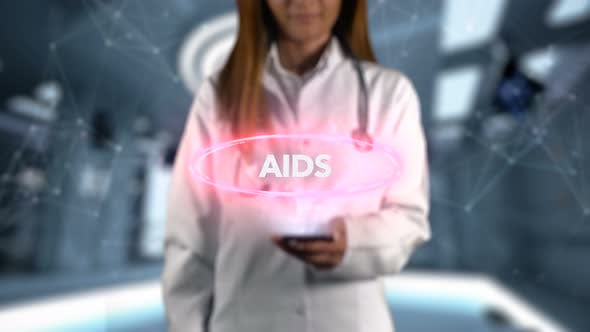 Thumbnail for Female Doctor Hologram Word Illness Aids