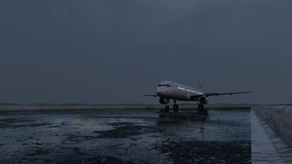 Thumbnail for Passenger Plane Starting to Take Off in Rainy Weather