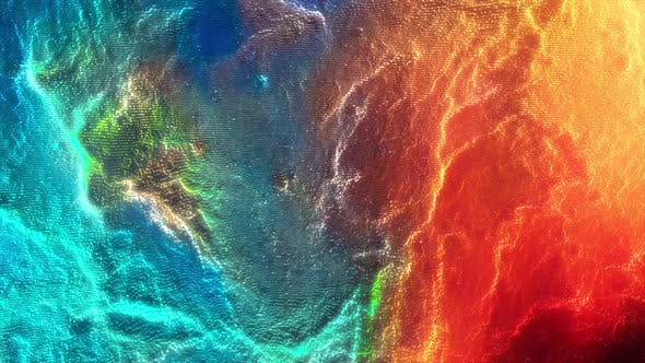 Colorful abstract motion background with wavy structure. Animation