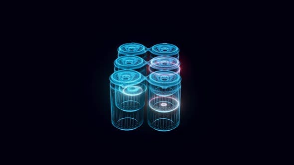 Stack Of Beer Cans Hologram Hd