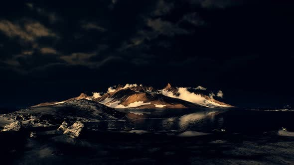 Thumbnail for Dramatic Landscape in Antarctica with Storm Coming