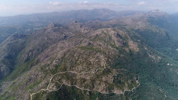 Thumbnail for Aerial View of Serpentine Road and Great Mountain