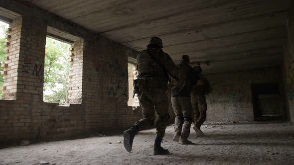 Thumbnail for Soldiers Storming the Building Captured By Enemy
