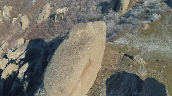 Cover Image for Huge Rocks On A Mountain Hill
