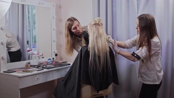 Woman in Beauty Salon