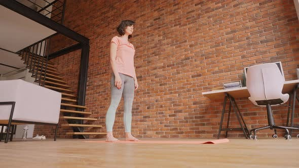 Adult Brunette Sport in Apartmen