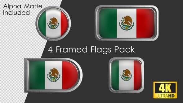 Thumbnail for Framed Mexico Flag Pack