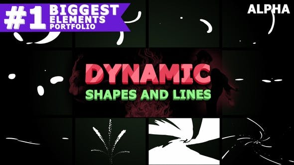 Dynamic Shapes And Lines | Motion Graphics Pack