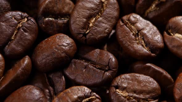 Thumbnail for Coffee Beans. Close Up. Rotating