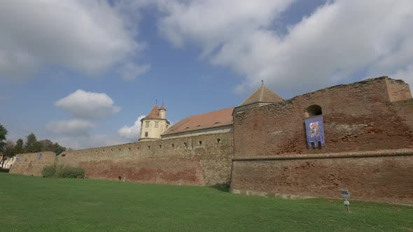 Outside view of Fagaras fortress