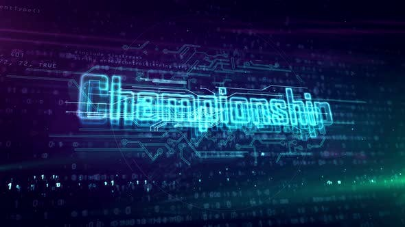 Championship esport game abstract loopable