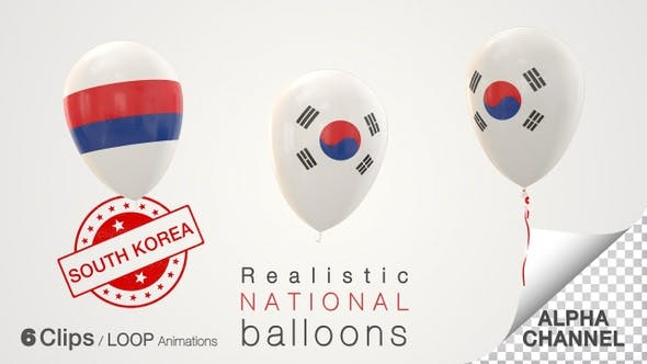 South Korea Flag Balloons