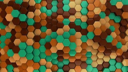 Hexagon Background Retro