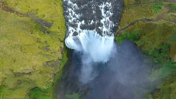 Thumbnail for Above View of Skogafoss Waterfall, Iceland