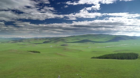 Vast Empty Meadow of Central Asia Geography