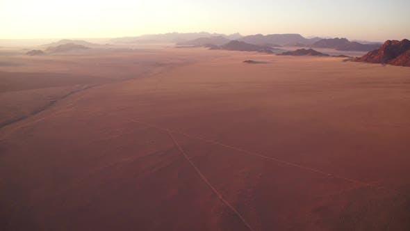Flying Over The Namibia Desert