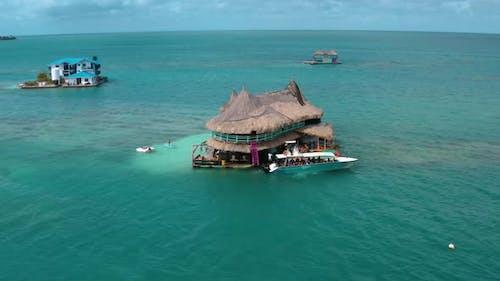 Casa En El Agua, House on Water in San Bernardo Islands, on Colombia's Caribbean Coast