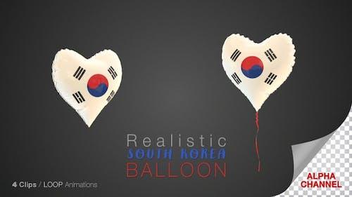 South Korea Heart Shape Balloons