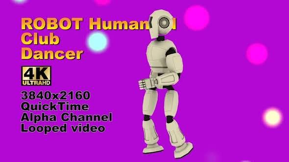 Vj Event 3d Robot Dancing Club