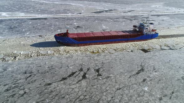 Thumbnail for Cargo Ship Aerial View