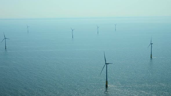Thumbnail for Wind turbines in sea