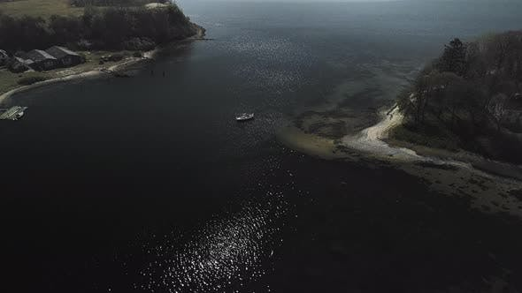 Thumbnail for Majestic Aerial View of the Big Ox Island's Sparking Deep Blue Waters