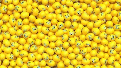 Easter Emoji Transition Crying 4K
