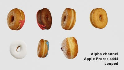 Delicious donut alpha channel