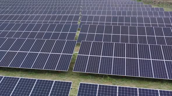 Thumbnail for High Angle View on a Solar Power Station, Technology and Environment