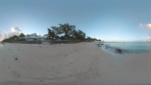 360 VR Ocean View and Coastline with Houses in Mauritius