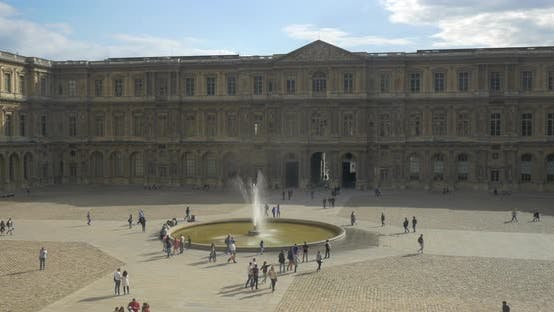 Cover Image for People Walking on the Square By Louvre in Paris
