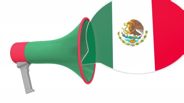 Thumbnail for Loudspeaker and Flag of Mexico on the Speech Balloon