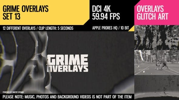 Cover Image for Grime Overlays (4K Set 13)