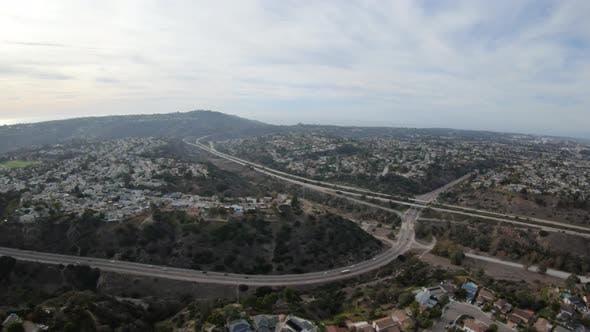 Thumbnail for San Clemente Rose Canyon Aerial View   San Diego California Usa