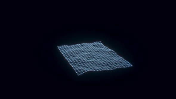 Carpet Hologram Rotating 4k