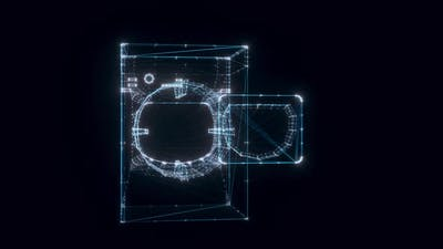 Drying Machine Hologram Rotating 4k