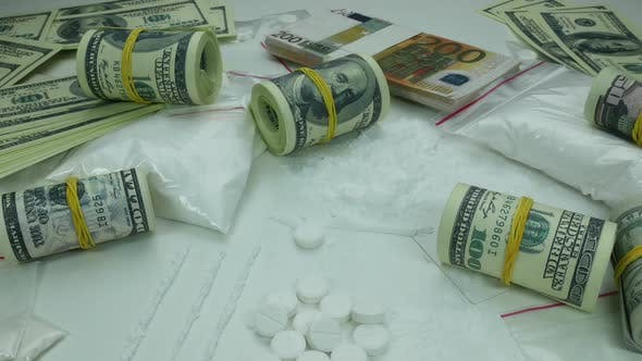 Thumbnail for Dirty Drug Money Profit From The Sale Of Cocaine And Tablets