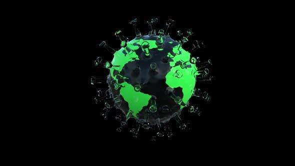 Coronavirus Covid 19 and Globe