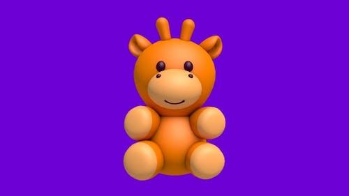 Giraffe 3d  Character - 360 Spin Looped