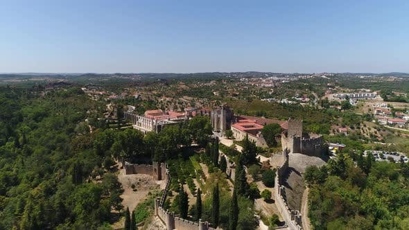 Thumbnail for Flying Over Portugal Templars Castle and Convent of Christ