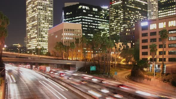 Thumbnail for Loopable Time Lapse Traffic Los Angeles