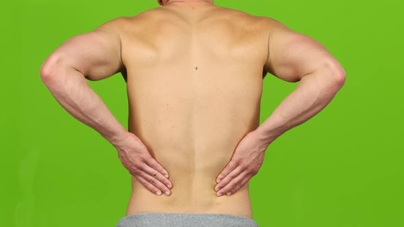 Thumbnail for Man Suffering From Backache Painful Cramps, Severe Back Pain. Closeup