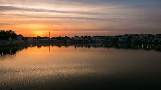 Thumbnail for Sunset time lapse at Pushkar, Rajasthan, India