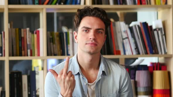 Thumbnail for Young Man in Anger Showing Middle Finger