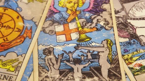 Thumbnail for Set Of Old Tarot Cards Lying Scattered 06